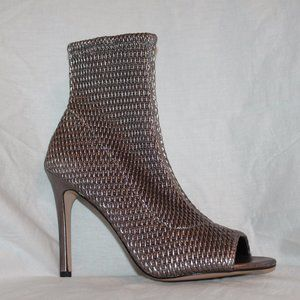 BCBGeneration Jane Quilted Peep Toe Ankle Boot NEW